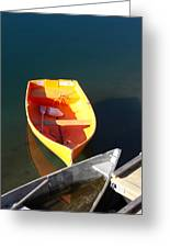 Rowboats In Rockport, Ma Greeting Card