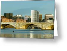 Rower On The Potomac River I Greeting Card