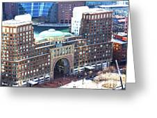Rowes Wharf Building Greeting Card