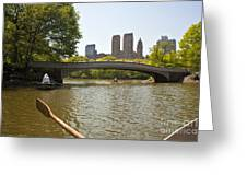 Rowing In Central Park Greeting Card