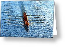Rowing In Greeting Card