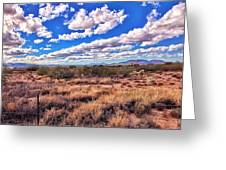 Rows Of Clouds Over Sonoran Desert Greeting Card