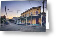 Royal And Touro Streets Sunset In The Marigny Greeting Card