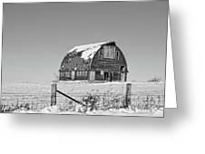 Royal Barn Winter Bnw Greeting Card