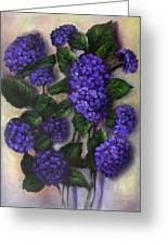 Royal Blue Hydrangea Greeting Card