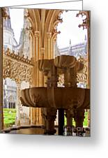 Royal Cloister Of The Batalha Monastery Greeting Card