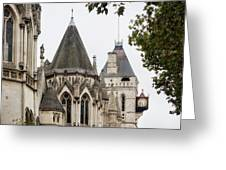 Royal Courts Of Justice Greeting Card