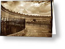 Royal Crescent Bath Somerset England Uk Greeting Card