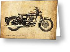 Royal Enfield Classic Chrome 2016, Poster For Men Cave Greeting Card