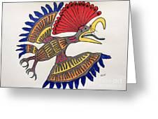 Royal Flycatcher- Mayan 2 Greeting Card