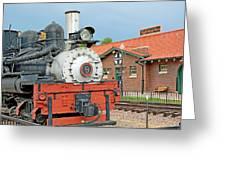 Royal Gorge Train And Depot Greeting Card