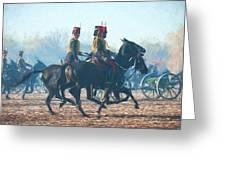 Royal Horse Artillery Painted Greeting Card