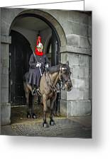 Royal Horseguard In London Greeting Card