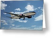 Royal Jordanian 787 Jy-baf Greeting Card