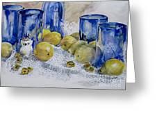 Royal Lemons Greeting Card