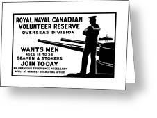 Royal Naval Canadian Volunteer Reserve Greeting Card by War Is Hell Store