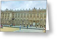 Royal Palace In Madrid In A Beautiful Summer Day, Spain Greeting Card