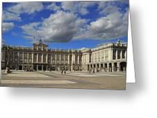 Royal Palace Of Madrid Spain Greeting Card