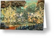 Royal Palace Ramayana 14 Greeting Card