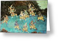 Royal Palace Ramayana 16 Greeting Card