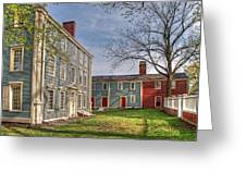 Royall House And Slave Quarters Greeting Card by Wayne Marshall Chase