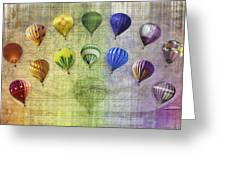 Roygbiv Balloons Greeting Card