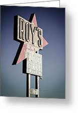Roys Motel And Cafe Greeting Card