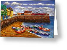 Rozel Harbour - Jersey Greeting Card