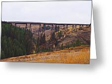 Rr Trestle Spans Lawyer's Canyon Greeting Card