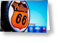 Rt. 66 Gas Pump Greeting Card