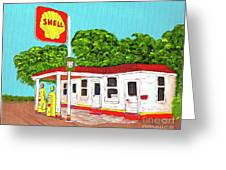 Rt 66 Shell Station Greeting Card