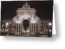 Rua Agusta Arch Lisbon Textured II Greeting Card