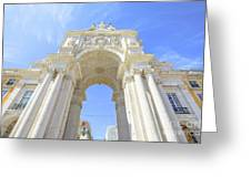 Rua Augusta Triumphal Arch Greeting Card