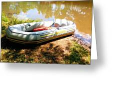 Rubber Boat 1 Greeting Card