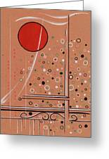 Rubby Moon Greeting Card