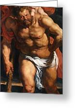 Rubens Descent From The Cross Detail Outside Left Peter Paul Rubens Greeting Card