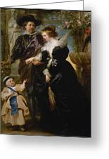 Rubens His Wife Helena Fourment 16141673 And Their Son Frans 16331678 Greeting Card