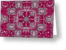 Rubies And Silver Kaleidoscope Greeting Card