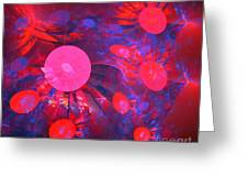 Ruby Blue Rays Greeting Card