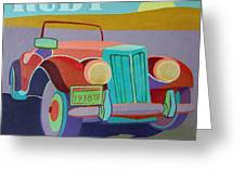 Ruby Ford Roadster Greeting Card