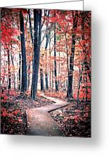 Ruby Forest Greeting Card
