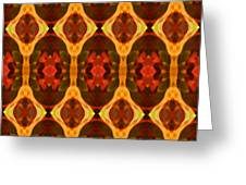 Ruby Glow Pattern Greeting Card