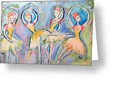 Ruby Quartette Greeting Card