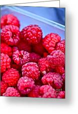 Ruby Raspberries Greeting Card