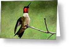 Ruby Red - Digital Art Greeting Card