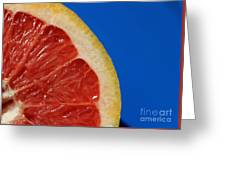 Ruby Red Grapefruit Quarter Greeting Card