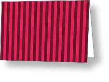 Ruby Red Striped Pattern Design Greeting Card