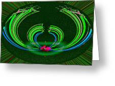 Ruby Singularity In Emerald Sapphire Nest Greeting Card
