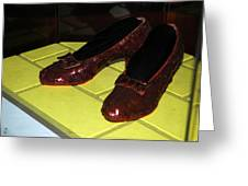 Ruby Slippers On The Yellow Brick Road Greeting Card