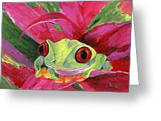 Ruby The Red Eyed Tree Frog Greeting Card